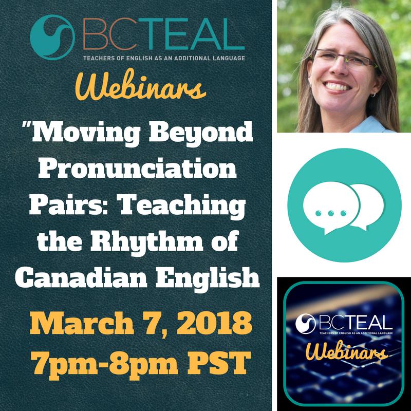 Moving Beyond Pronunciation Pairs BC TEAL Webinar Series